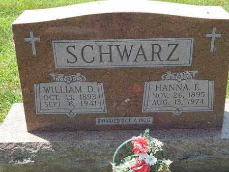 SCHWARZ, HANNA E - Perry County, Illinois | HANNA E SCHWARZ - Illinois Gravestone Photos