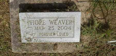 WEAVER, HOPE - Perry County, Illinois | HOPE WEAVER - Illinois Gravestone Photos