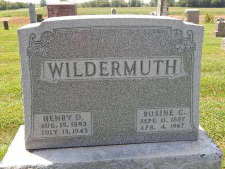WILDERMUTH, ROSINE C - Perry County, Illinois | ROSINE C WILDERMUTH - Illinois Gravestone Photos