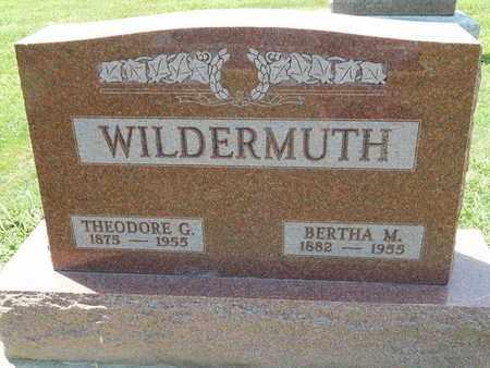 WILDERMUTH, BERTHA M - Perry County, Illinois | BERTHA M WILDERMUTH - Illinois Gravestone Photos
