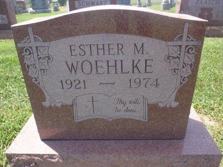 WOEHLKE, ESTHER M - Perry County, Illinois | ESTHER M WOEHLKE - Illinois Gravestone Photos
