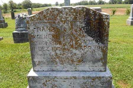 WOEHLKE, FRANZ R - Perry County, Illinois | FRANZ R WOEHLKE - Illinois Gravestone Photos
