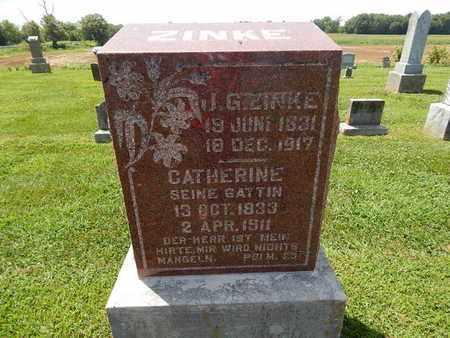 ZINKE, JOHN G - Perry County, Illinois | JOHN G ZINKE - Illinois Gravestone Photos