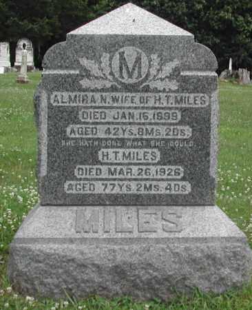 FREDRICK MILES, ALMIRA - Piatt County, Illinois | ALMIRA FREDRICK MILES - Illinois Gravestone Photos