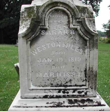 SIMMONS MILES, SARAH REBECCA - Piatt County, Illinois | SARAH REBECCA SIMMONS MILES - Illinois Gravestone Photos