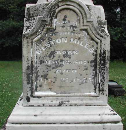 MILES, WESTON - Piatt County, Illinois | WESTON MILES - Illinois Gravestone Photos