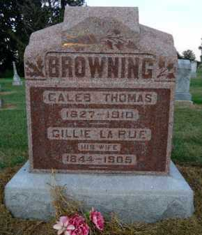 BROWNING, CALEB THOMAS - Pike County, Illinois | CALEB THOMAS BROWNING - Illinois Gravestone Photos