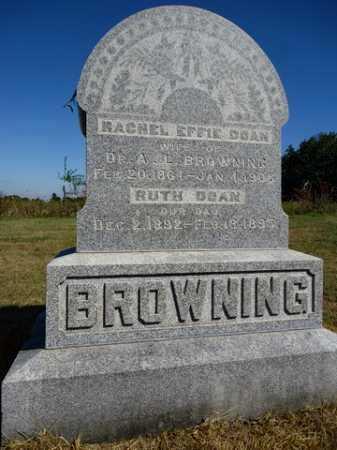 DOAN BROWNING, RACHEL EFFIE - Pike County, Illinois   RACHEL EFFIE DOAN BROWNING - Illinois Gravestone Photos