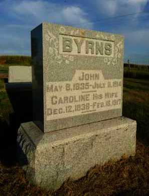 BYRNS, CAROLINE - Pike County, Illinois | CAROLINE BYRNS - Illinois Gravestone Photos