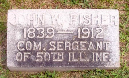 FISHER (CW), JOHN W. - Pike County, Illinois | JOHN W. FISHER (CW) - Illinois Gravestone Photos