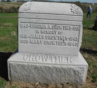 CROWTHER, MARY - Pike County, Illinois | MARY CROWTHER - Illinois Gravestone Photos