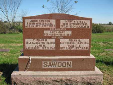 SAWDON, MARY - Pike County, Illinois | MARY SAWDON - Illinois Gravestone Photos