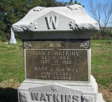 WATKINS, JOHN F - Pike County, Illinois   JOHN F WATKINS - Illinois Gravestone Photos