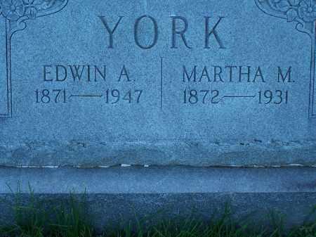 YORK, EDWIN A. - Pike County, Illinois | EDWIN A. YORK - Illinois Gravestone Photos