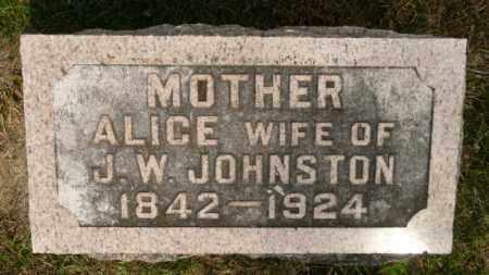 HUTCHINSON JOHNSTON, ALICE - Rock Island County, Illinois | ALICE HUTCHINSON JOHNSTON - Illinois Gravestone Photos