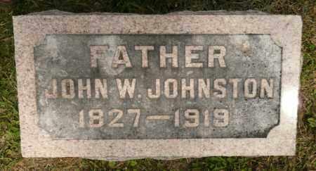 JOHNSTON, JOHN W - Rock Island County, Illinois   JOHN W JOHNSTON - Illinois Gravestone Photos