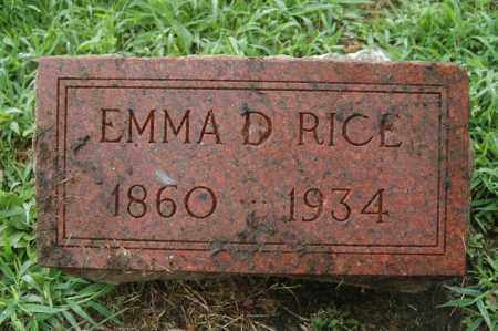 RICE, EMMA D. - Rock Island County, Illinois | EMMA D. RICE - Illinois Gravestone Photos