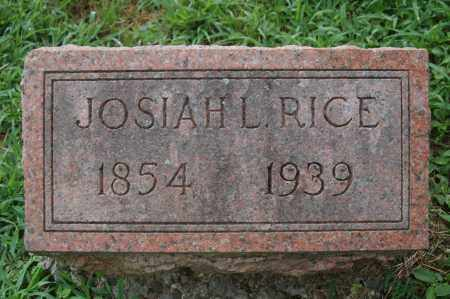 RICE, JOSIAH LEONARD - Rock Island County, Illinois | JOSIAH LEONARD RICE - Illinois Gravestone Photos