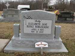 BURKE BORGOGNONI, ELIZABETH JANE - Sangamon County, Illinois | ELIZABETH JANE BURKE BORGOGNONI - Illinois Gravestone Photos