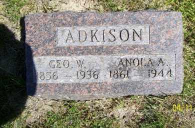 ADKISON, ANOLA A. - Schuyler County, Illinois | ANOLA A. ADKISON - Illinois Gravestone Photos