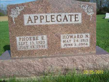 APPLEGATE, HOWARD N - Schuyler County, Illinois | HOWARD N APPLEGATE - Illinois Gravestone Photos
