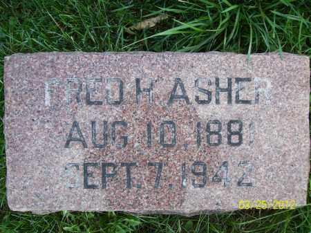 ASHER, FRED H - Schuyler County, Illinois   FRED H ASHER - Illinois Gravestone Photos