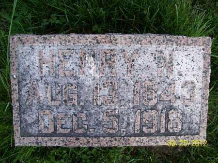 ASHER, HENRY N - Schuyler County, Illinois | HENRY N ASHER - Illinois Gravestone Photos