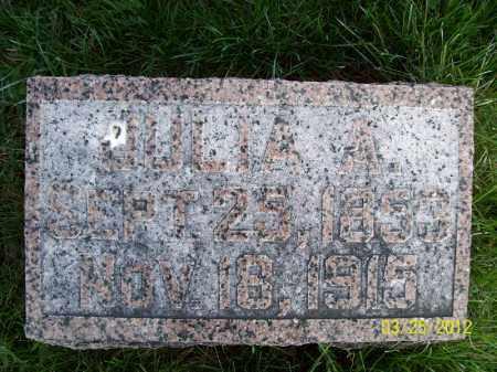 ASHER, JULIA A - Schuyler County, Illinois | JULIA A ASHER - Illinois Gravestone Photos