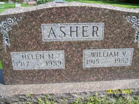 ASHER, WILLIAM V - Schuyler County, Illinois | WILLIAM V ASHER - Illinois Gravestone Photos
