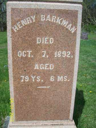BARKMAN, HENRY - Schuyler County, Illinois | HENRY BARKMAN - Illinois Gravestone Photos
