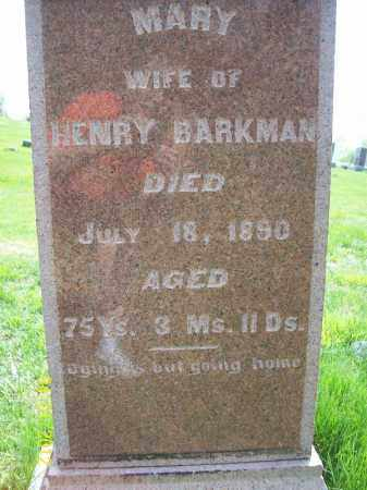 BARKMAN, MARY - Schuyler County, Illinois | MARY BARKMAN - Illinois Gravestone Photos