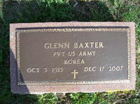 BAXTER, GLENN (MIL) - Schuyler County, Illinois | GLENN (MIL) BAXTER - Illinois Gravestone Photos