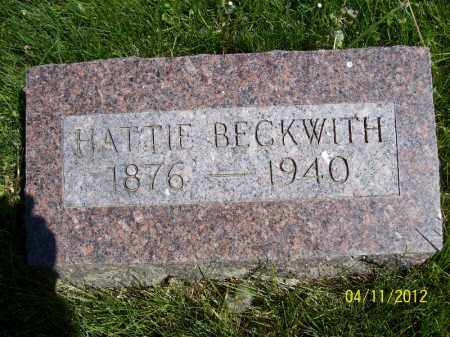 BECKWITH, HATTIE - Schuyler County, Illinois | HATTIE BECKWITH - Illinois Gravestone Photos