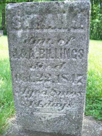 BILLINGS, SARAH J - Schuyler County, Illinois | SARAH J BILLINGS - Illinois Gravestone Photos