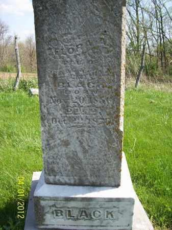 BLACK, FLORA A - Schuyler County, Illinois | FLORA A BLACK - Illinois Gravestone Photos