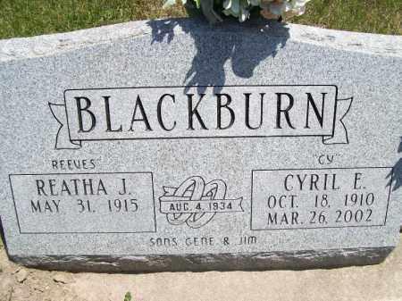"BLACKBURN, REATHA J ""REEVES"" - Schuyler County, Illinois | REATHA J ""REEVES"" BLACKBURN - Illinois Gravestone Photos"