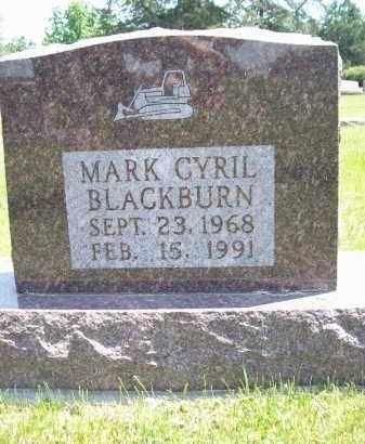 BLACKBURN, MARK CYRIL - Schuyler County, Illinois   MARK CYRIL BLACKBURN - Illinois Gravestone Photos