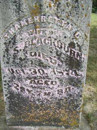 BLACKBURN, THAMERRETTA C - Schuyler County, Illinois   THAMERRETTA C BLACKBURN - Illinois Gravestone Photos