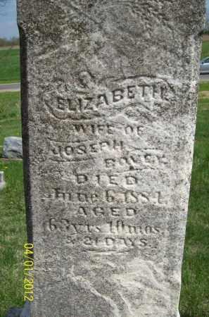 BOVEY, ELIZABETH - Schuyler County, Illinois | ELIZABETH BOVEY - Illinois Gravestone Photos