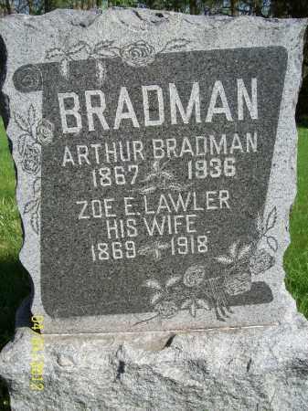 BRADMAN, ZOE E - Schuyler County, Illinois | ZOE E BRADMAN - Illinois Gravestone Photos