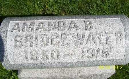 BRIDGEWATER, AMANDA B - Schuyler County, Illinois | AMANDA B BRIDGEWATER - Illinois Gravestone Photos