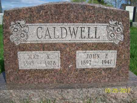 CALDWELL, MAE K - Schuyler County, Illinois | MAE K CALDWELL - Illinois Gravestone Photos
