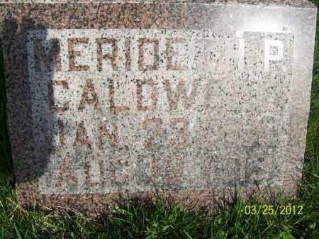 CALDWELL, MERIDETH P - Schuyler County, Illinois   MERIDETH P CALDWELL - Illinois Gravestone Photos