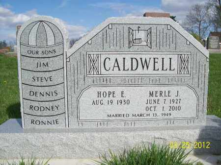 CALDWELL, MERLE J - Schuyler County, Illinois | MERLE J CALDWELL - Illinois Gravestone Photos