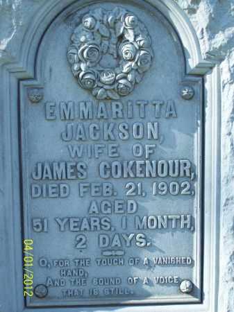 COKENOUR, EMMARITTA - Schuyler County, Illinois | EMMARITTA COKENOUR - Illinois Gravestone Photos