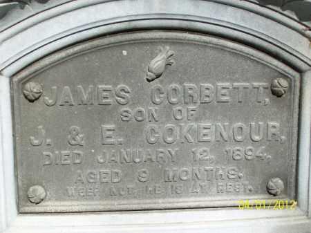 COKENOUR, JAMES CORBETT - Schuyler County, Illinois | JAMES CORBETT COKENOUR - Illinois Gravestone Photos