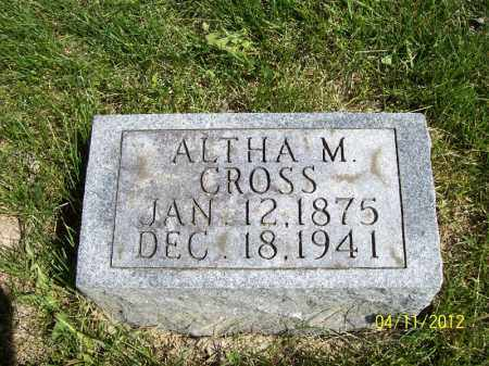 CROSS, ALTHA M. - Schuyler County, Illinois | ALTHA M. CROSS - Illinois Gravestone Photos