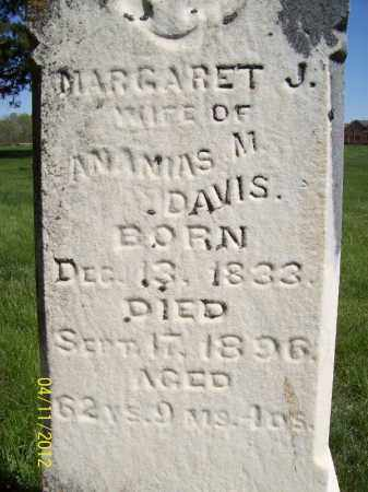 DAVIS, MARGARET J. - Schuyler County, Illinois | MARGARET J. DAVIS - Illinois Gravestone Photos