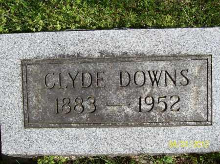 DOWNS, CLYDE - Schuyler County, Illinois | CLYDE DOWNS - Illinois Gravestone Photos