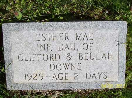 DOWNS, ESTHER MAE - Schuyler County, Illinois | ESTHER MAE DOWNS - Illinois Gravestone Photos